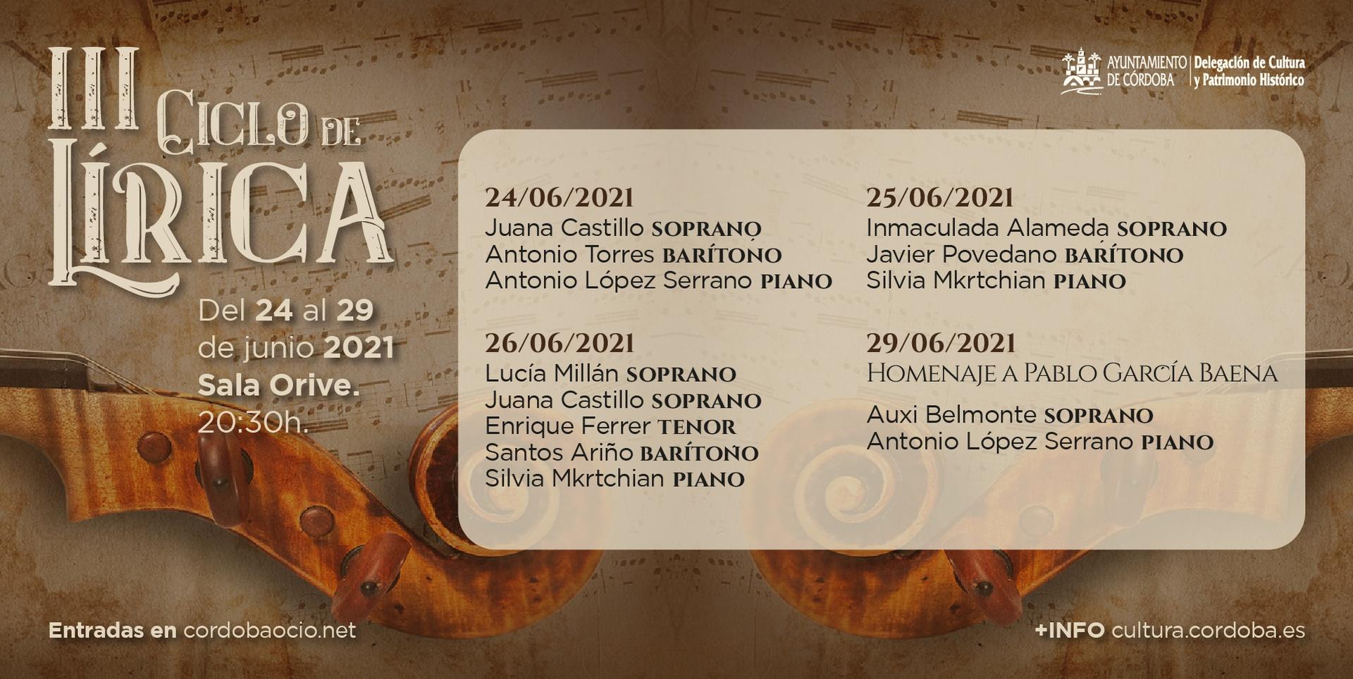Voces de Córdoba 2021. Grandes Voces