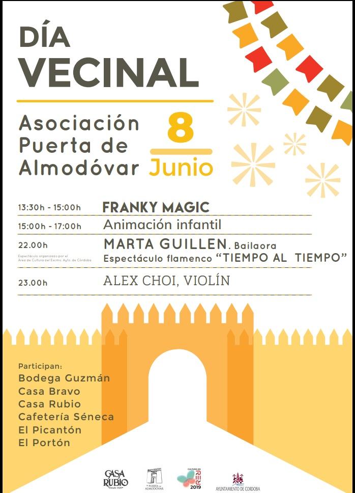 Cartel Prog. Día Vecinal de la Asoc. Puerta de Almodóvar