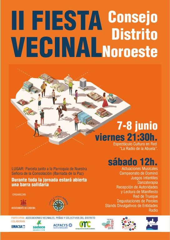 Cartel Programación Día Vecinal del Distrito Noroeste